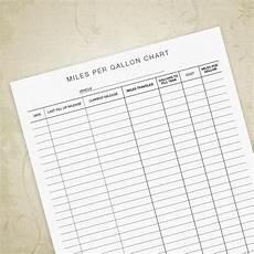 Gas Mileage Chart Miles Per Gallon Chart Printable Form Mileage Sheet Gas Mpg