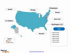 Us Map Ppt Free Usa Powerpoint Map Free Powerpoint Templates