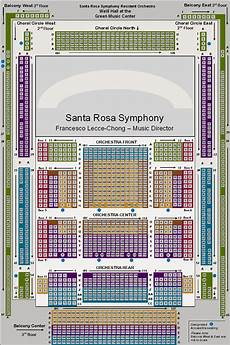 Weill Hall Carnegie Hall Seating Chart Concert Venues Santa Rosa Symphony