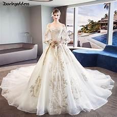 lace sleeve wedding dresses princess luxury