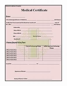 Medical Certificate Templates Medical Certificate Template Templates At