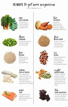 Magnesium Rich Foods Chart 10 Ways To Get More Magnesium And Why You Should