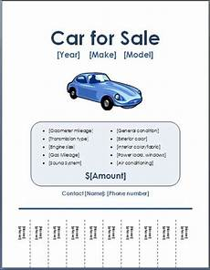 For Sale Templates Sample Car For Sale Poster Flyer Template Formal Word