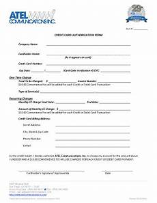 Credit Card Charge Authorization 24 Printable Recurring Credit Card Authorization Form