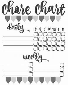 Blank Chore Chart Diy Printable Chore Chart Inspiration For