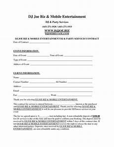 Contract Templates Dj Contract Template Invitation Templates D J