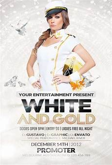 Free All White Party Flyer Template Free White And Gold Party Flyer Template Download Psd