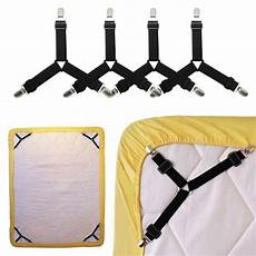 bed sheet band straps suspenders 4 pcs fitted bed sheet
