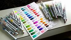 Zig Real Brush Color Chart Zig Clean Color Markers Color Chart Google Search