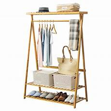 bamboo clothes rack bamboo coat rack clothing racks with hanging rod for
