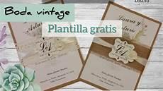 invitaciones de boda diy invitaci 243 n boda vintage plantillas gratis