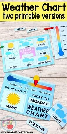 Weather Chart For Preschool Classroom Printable Printable Weather Charts Perfect For The Kids