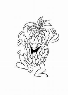 Ausmalbilder Lustiges Obst Ausmalbild Tanzende Ananas Kostenlos Ausdrucken
