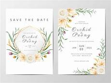 Download Invitation Card Template Romantic Floral Wedding Invitation Cards Template Set