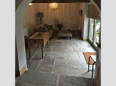 Reclaimed antique English Yorkstone flooring in 2019   Stone flooring, Stone kitchen floor