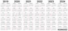 Multi Year Calendar Six Year Calendar 2019 2020 2021 2022 2023 And 2024