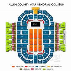 War Memorial Concert Seating Chart Allen County War Memorial Coliseum Tickets Allen County