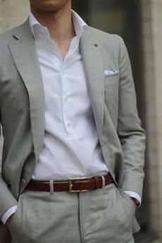 Light Grey Linen Suit Light Grey Linen Men Wedding Suits Casual Notched Lapel