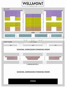 Tabernacle Seating Chart General Admission Seating Chart General Admission The Wellmont Theater