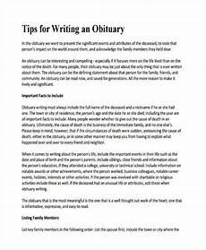 Example Obituary Free 5 Obituary Writing Examples Amp Samples In Pdf Doc