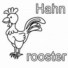 Malvorlagen Englisch Kostenlose Malvorlage Englisch Lernen Hahn Rooster Zum