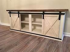 custom sliding barn door cabinet entertainment center