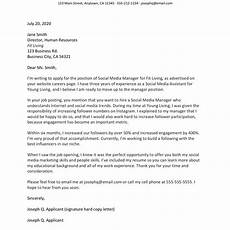 Example Of Cover Letter For Applying A Job 100 Free Cover Letter Examples And Templates