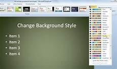 How To Change Powerpoint Template Background Styles Preset In Powerpoint 2010