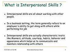 What Is The Definition Of Interpersonal Skills Interpersonal Skills