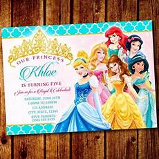 Disney Birthday Party Invitations Fall In Love With These Disney Princess Party Invitations