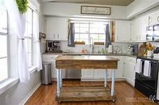 diy kitchen island from desk farmhouse style