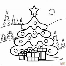 tree coloring page free printable coloring pages