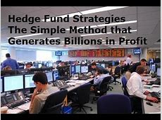 Hedge Fund Trading Strategies   Trade Forex Like the Hedge