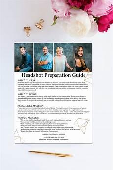 Free Headshot Template Headshot Style Guide Brochure Templates Creative Market