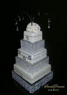 diy crystal wedding cake stand cake stand chandelier