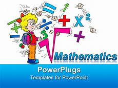 Math Powerpoint Presentation Powerpoint Template Math Related Symbols And The Word