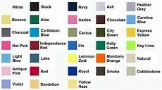 Anvil 980 Color Chart Below Are A Few Of The Color Charts By Brand Not All