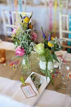 diy wedding flowers kent a colourful village hall wedding in kent with lots of diy