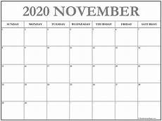 November 2020 Calendar Printable November 2020 Calendar Free Printable Monthly Calendars