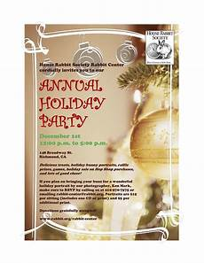 Annual Holiday Party Invitation Template Holiday Party Invitation 1 House Rabbit Society