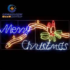 Rope Light Christmas Signs China Animated 230cm Wide Led Merry Christmas Sign With