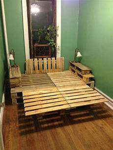 How To Make A Pallet Bed Frame With Lights A Pallet Bed Construction And Diy Projects Forums