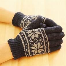 fashion new unisex winter wool knit wrist gloves
