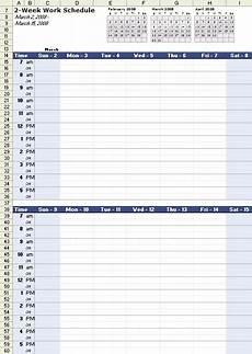Working Schedule Format Work Schedule Template For Excel