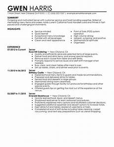 Objective For Server Resumes Unforgettable Server Resume Examples To Stand Out