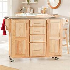 The Randall Portable Kitchen Island With Optional Stools To It The Fairmont Kitchen Cart With Optional