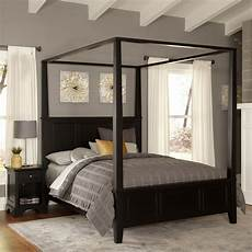home styles bedford black canopy bed 5531 510 the