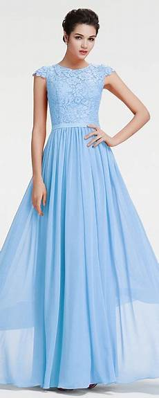 Light Blue Dress Cap Sleeves Modest Ice Blue Lace Prom Dress With Cap Sleeves Cap