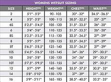 Oneill Size Chart O Neill Wetsuit Size Chart Moment Surf Company