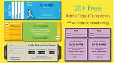 Event Raffle Tickets 20 Free Raffle Ticket Templates With Automate Ticket